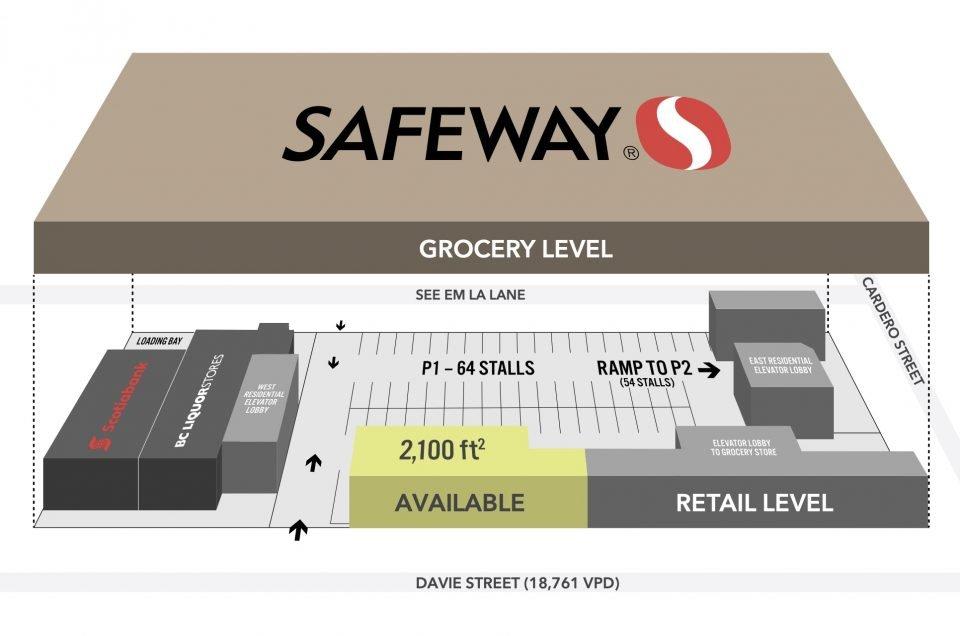 Davie Street Safeway for lease