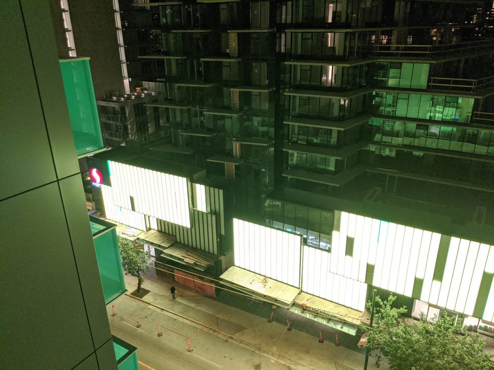 Davie Street resident awash in green of new lighting feature