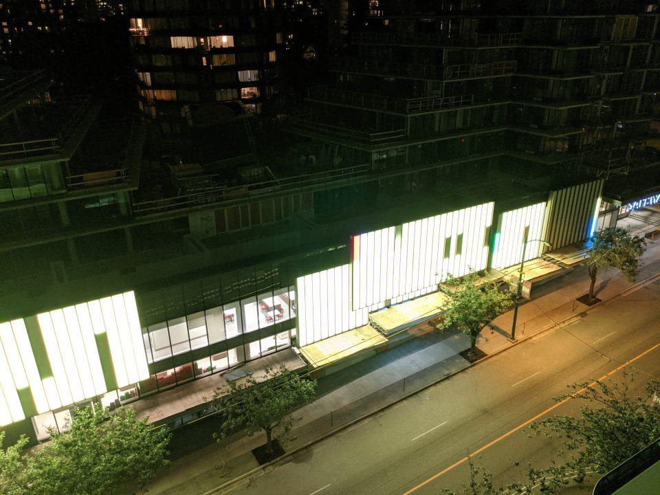 Davie Street Safeway lights