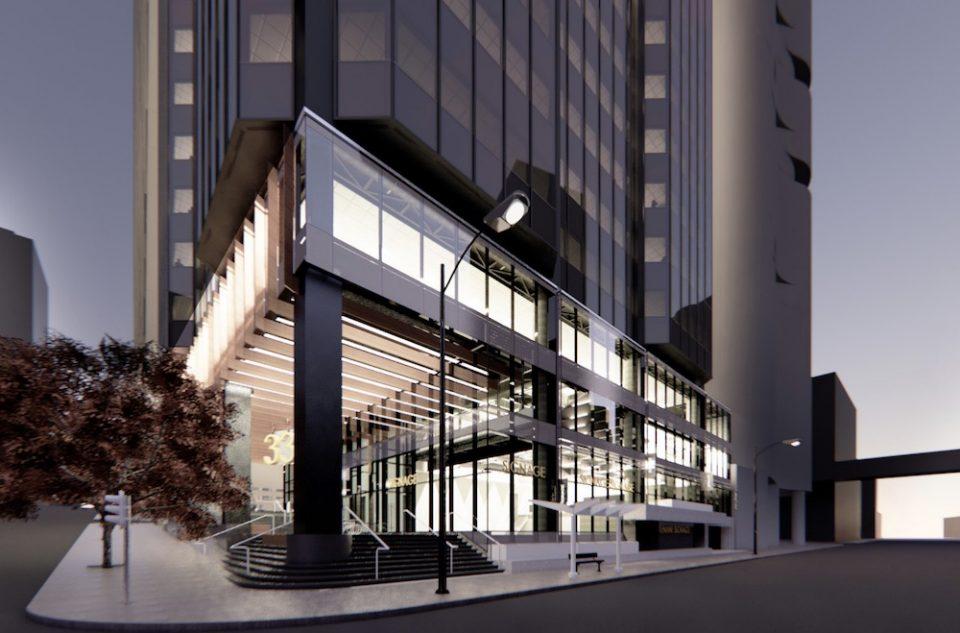 Podium design by B+H Architects