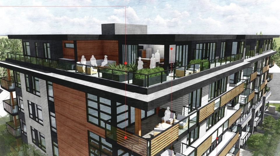 Port Moody micro-units rendering rooftop