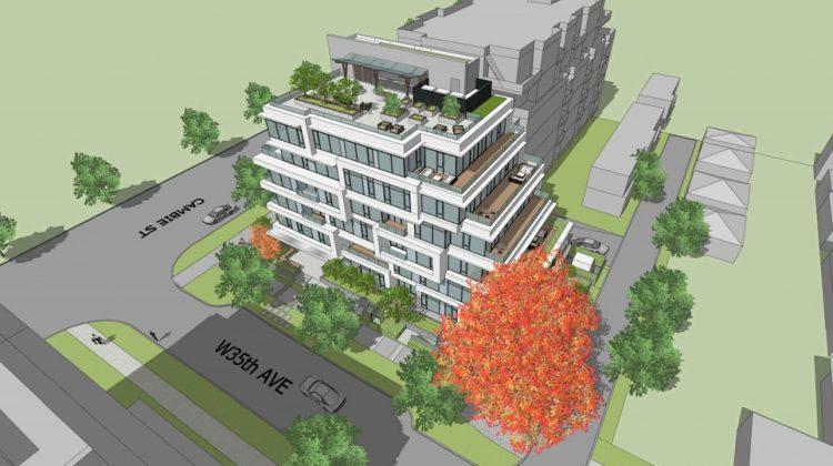 485 West 35th and Cambie rendering