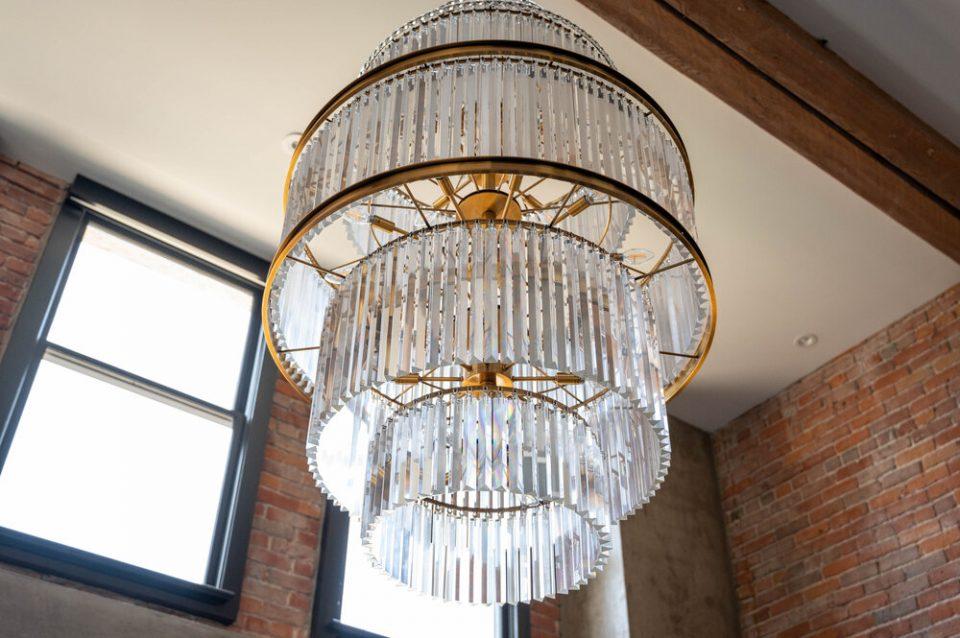 Bowman Lofts custom chandelier