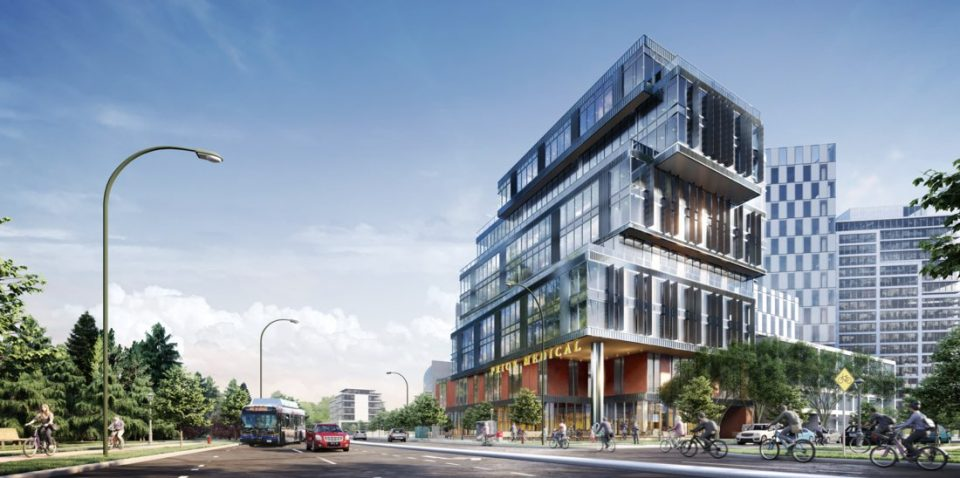 Nine-storey strata office planned next to new St. Paul's Hospital