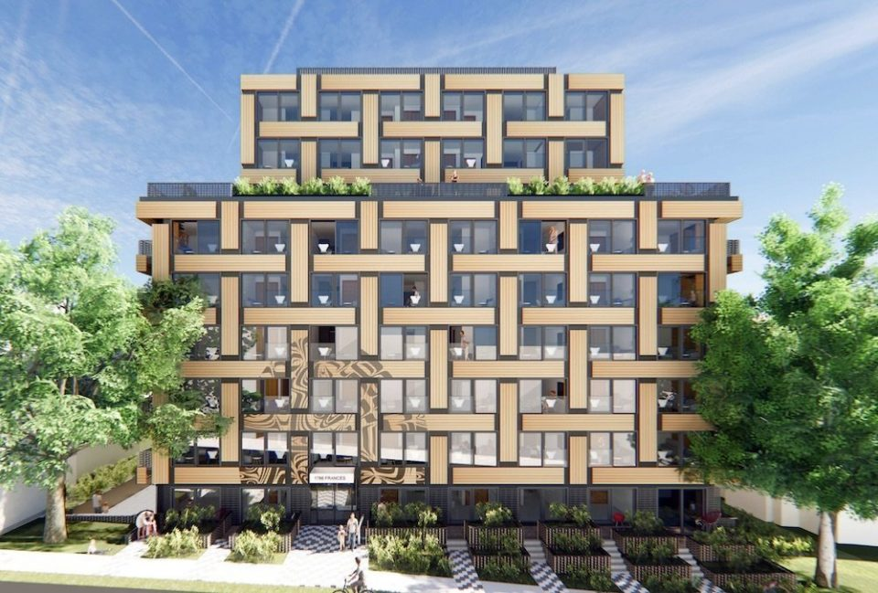 Indigenous basket weave design for social housing façade