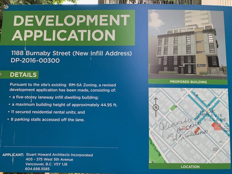 1188 Burnaby Street development application