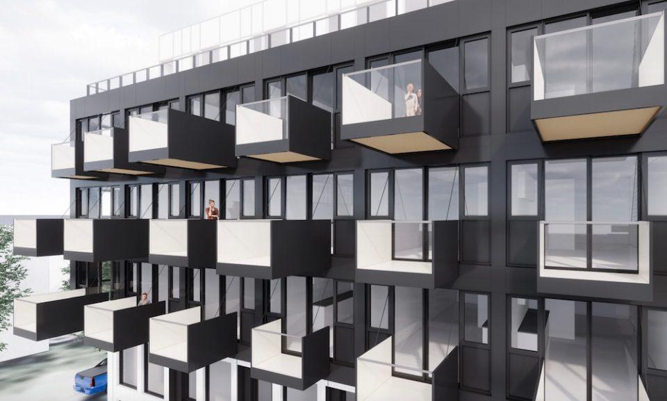 Studio balconies facing Knight Street