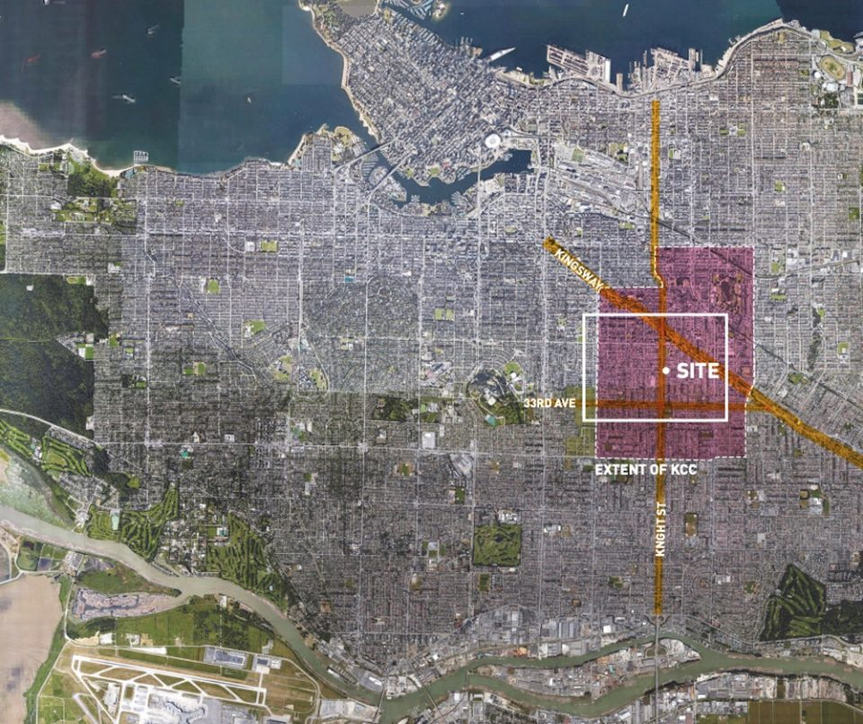 Site location within Vancouver