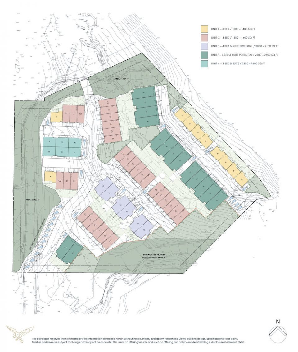 Aquila Eagle Harbour site map