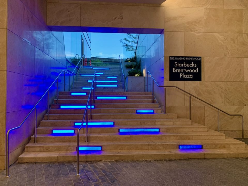 Light feature on interior stairs