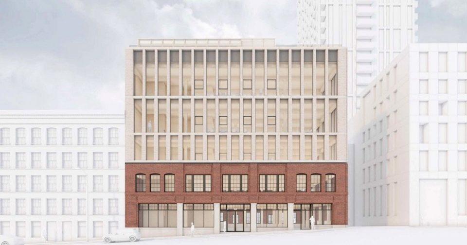 Heritage restoration, mass timber addition to Beatty Street warehouse
