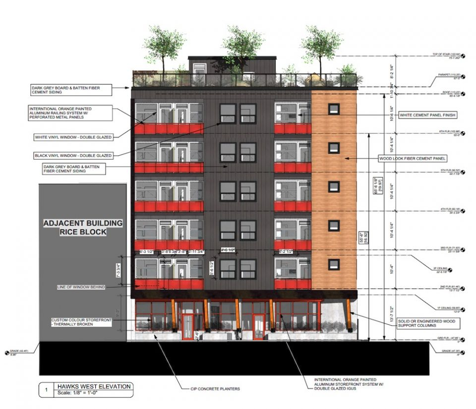 Hawks and Hastings social housing drawing
