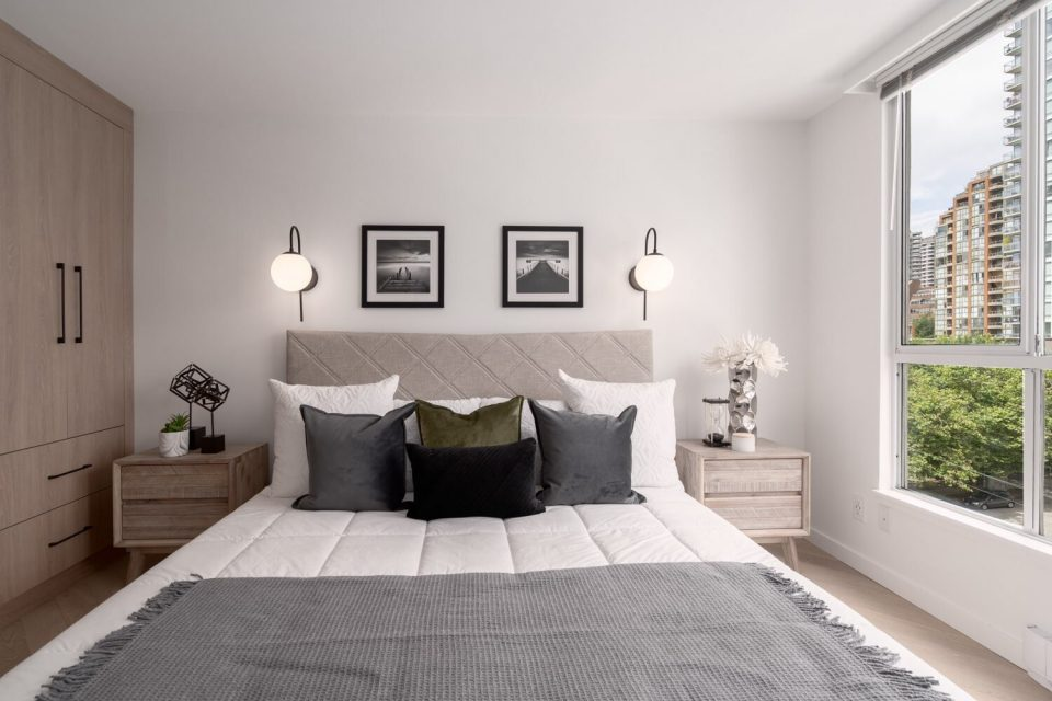 Master bedroom with built-in storage