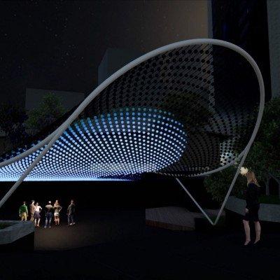 Bentall Centre LED suspended lighting