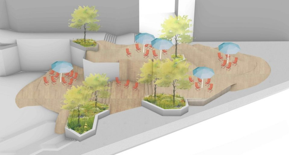 Bentall new landscaping