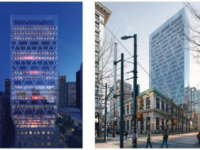 Granville Street office tower rendering