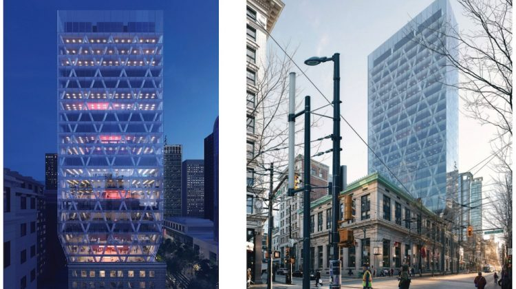 Granville Street office tower rendering