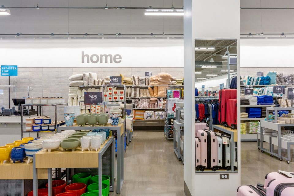 Home decor section at Nordstrom Rack Langley