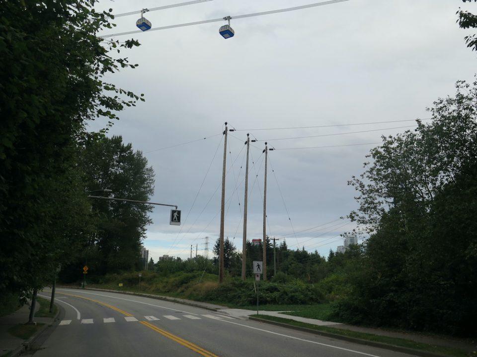 SFU gondola rendering overhead