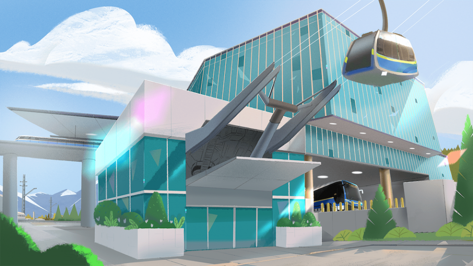 SFU gondola station rendering