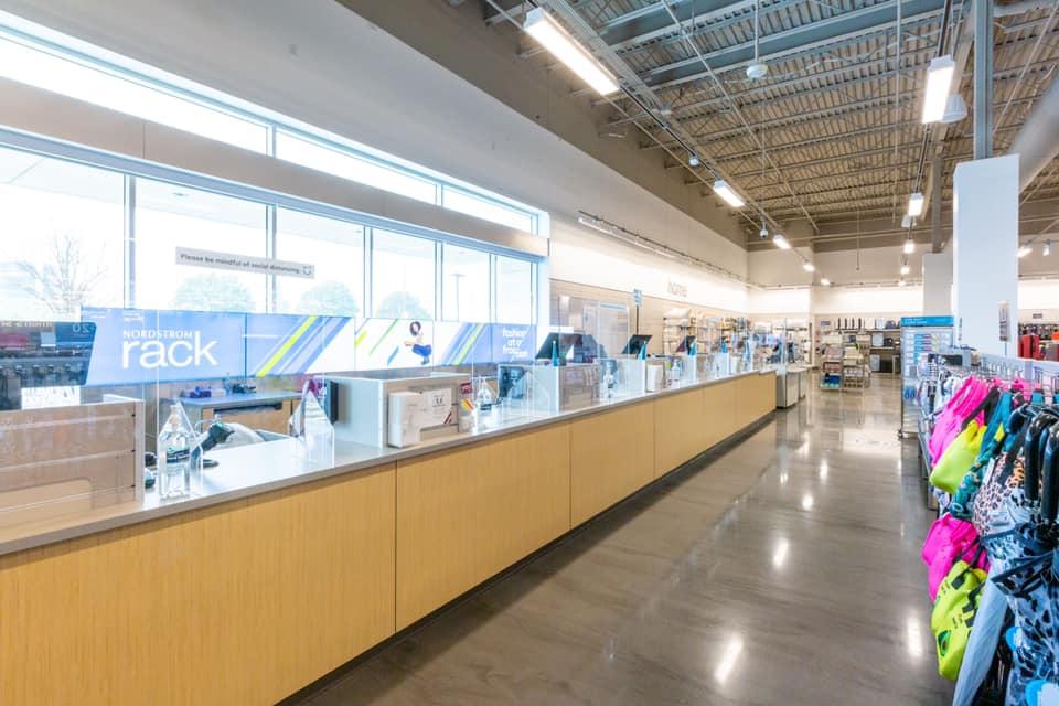Store interior - checkouts