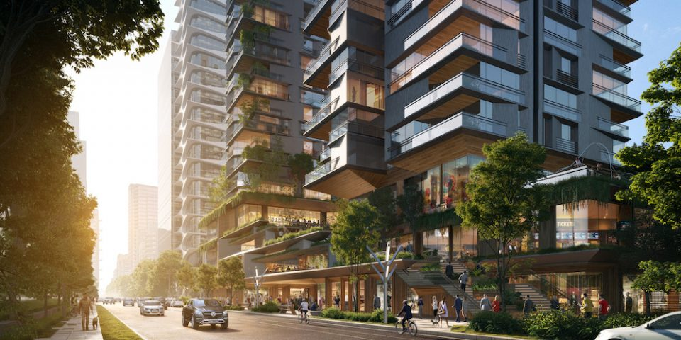 UNstudio Vancouver concept streetscape