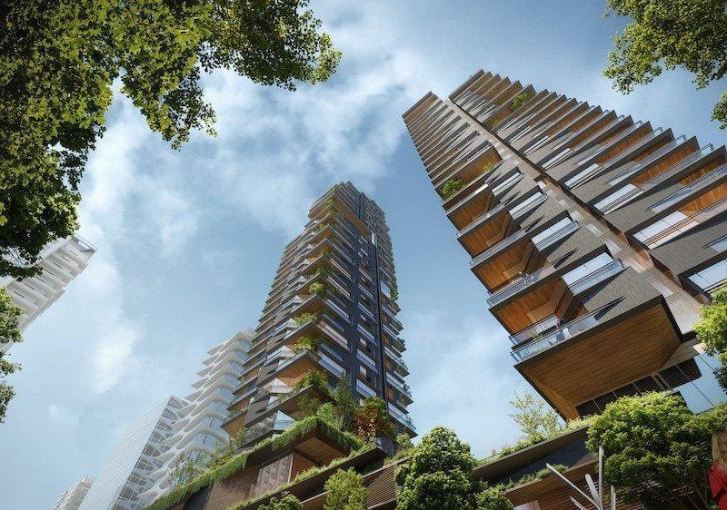 UNstudio Vancouver concept looking skyward