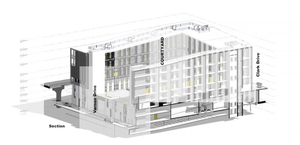 1221 East 2nd Avenue building schematic