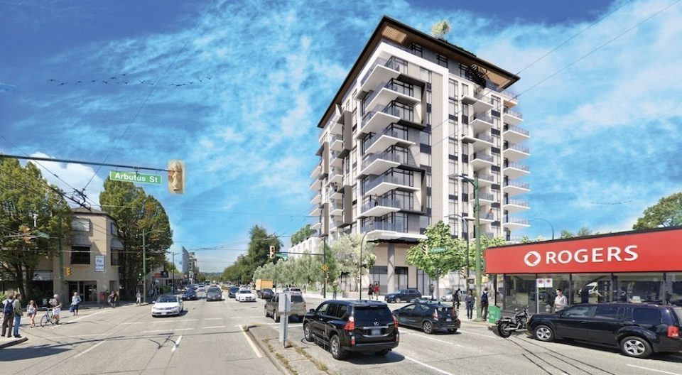 Cassis 11-storey tower slated for Broadway and Arbutus