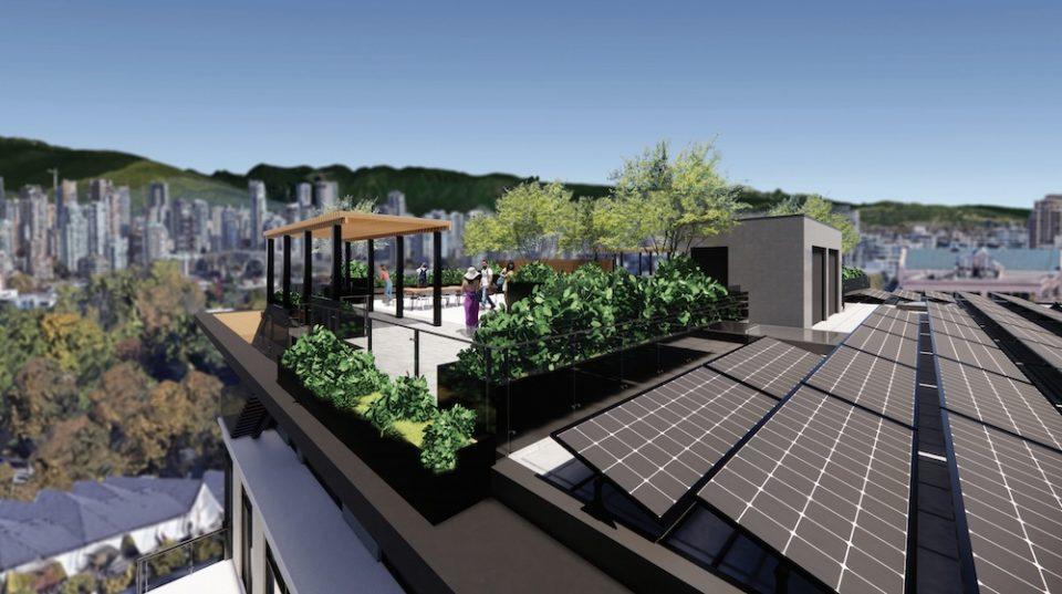 Rooftop amenity area