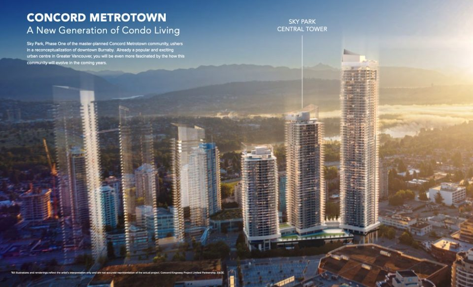 Concord Metrotown rendering overview