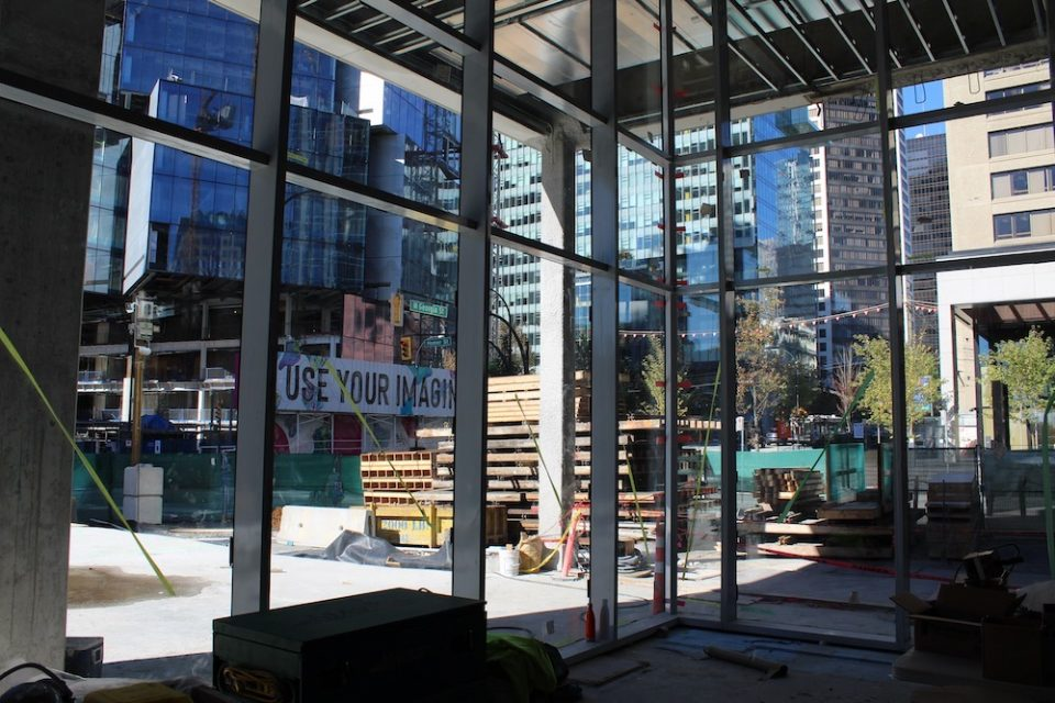 View from future Amazon Vancouver HQ lobby