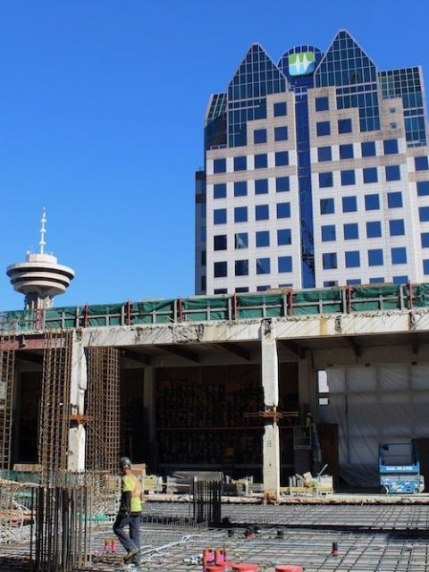 Construction progress on the North tower
