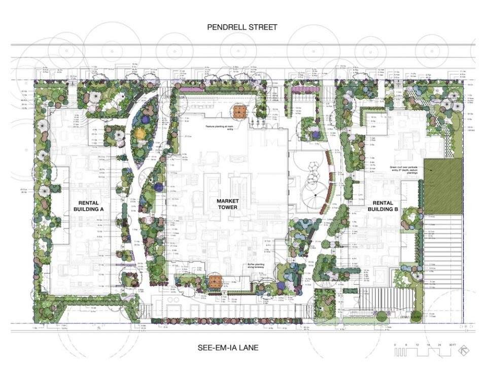 1116-1140 Pendrell St site plan