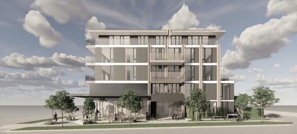 Rendering of project at West 49th and Alberta