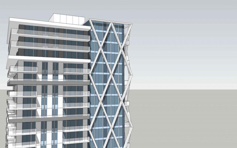 Tower rendering - upper levels