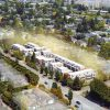 Aerial view of upcoming Oak Street townhouses