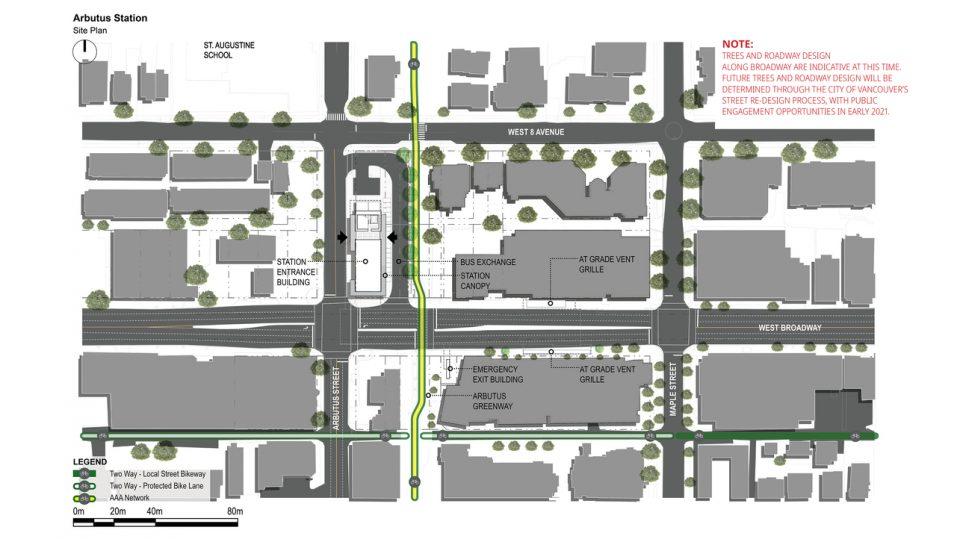 Arbutus Station plan