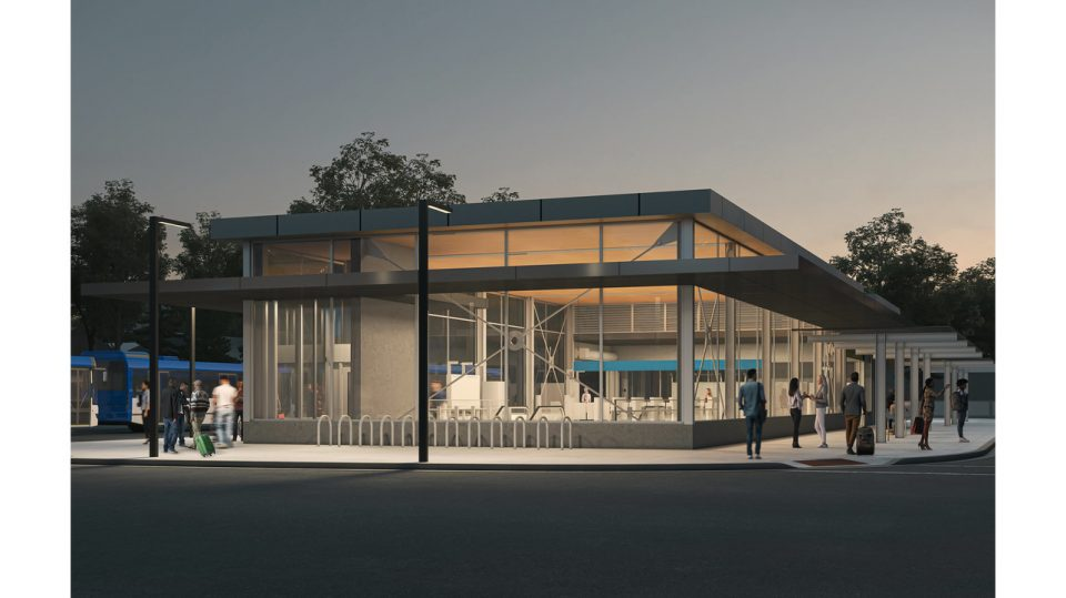 Broadway Subway extension - Rendering of future Arbutus SkyTrain station