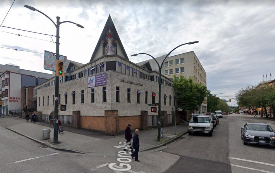 Current First United Church as captured by Google Street View