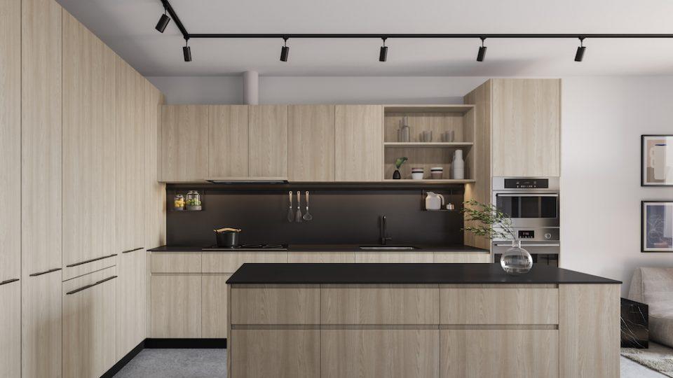 Format Cressey: Light colour scheme in kitchen