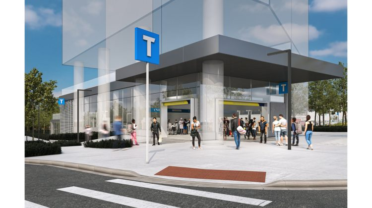 Rendering of future Great Northern Way-Emily Carr Station