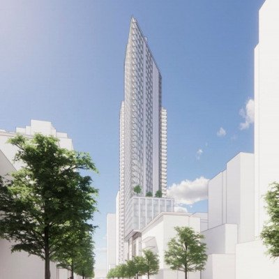 Richards and Drake social housing tower rendering