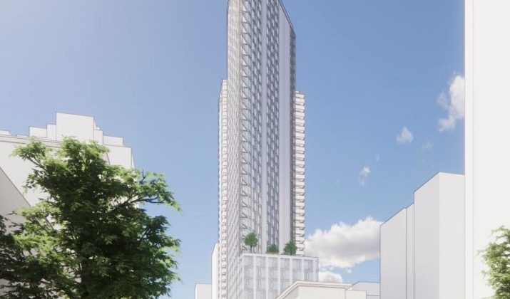 Richards and Drake social housing tower rendering