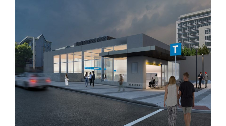 Broadway Subway extension: Oak-VGH Station rendering