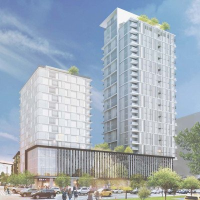 Rendering of upcoming development at 5740 Cambie Street and West 41st Avenue