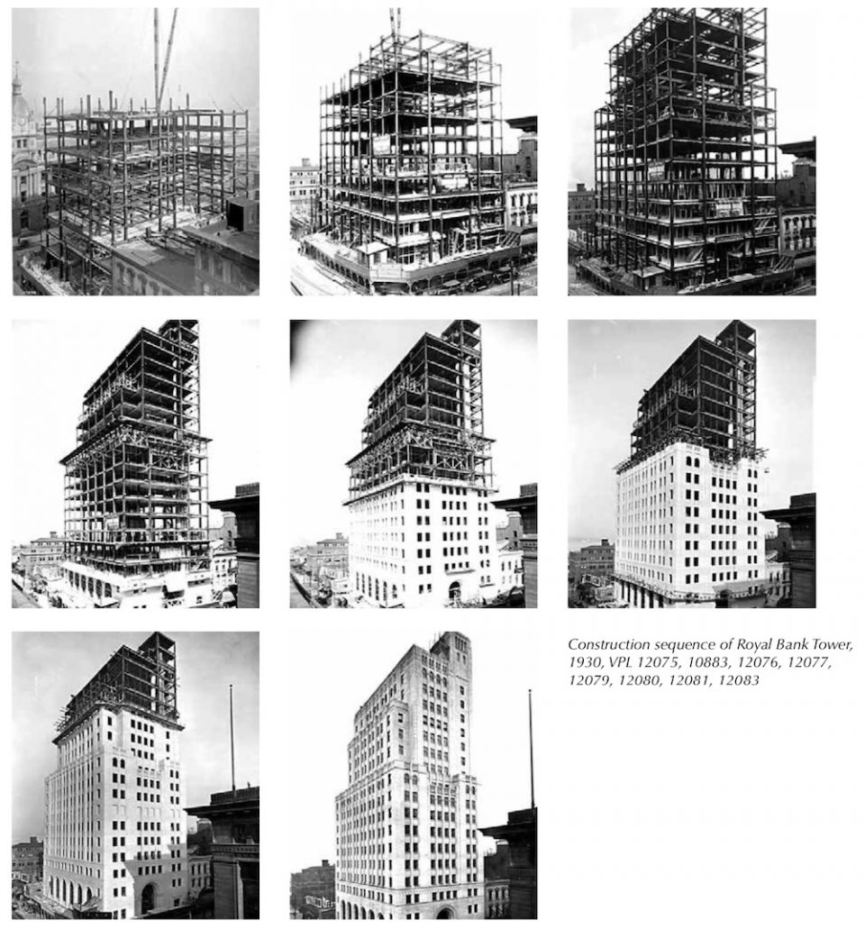 Construction sequence of Royal Bank Tower