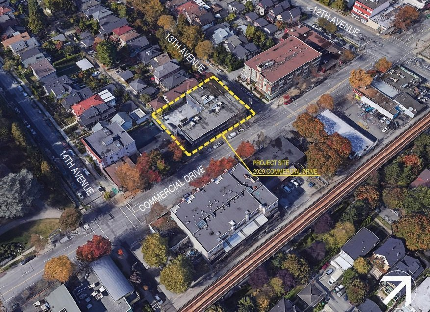 Project location on Commercial Drive