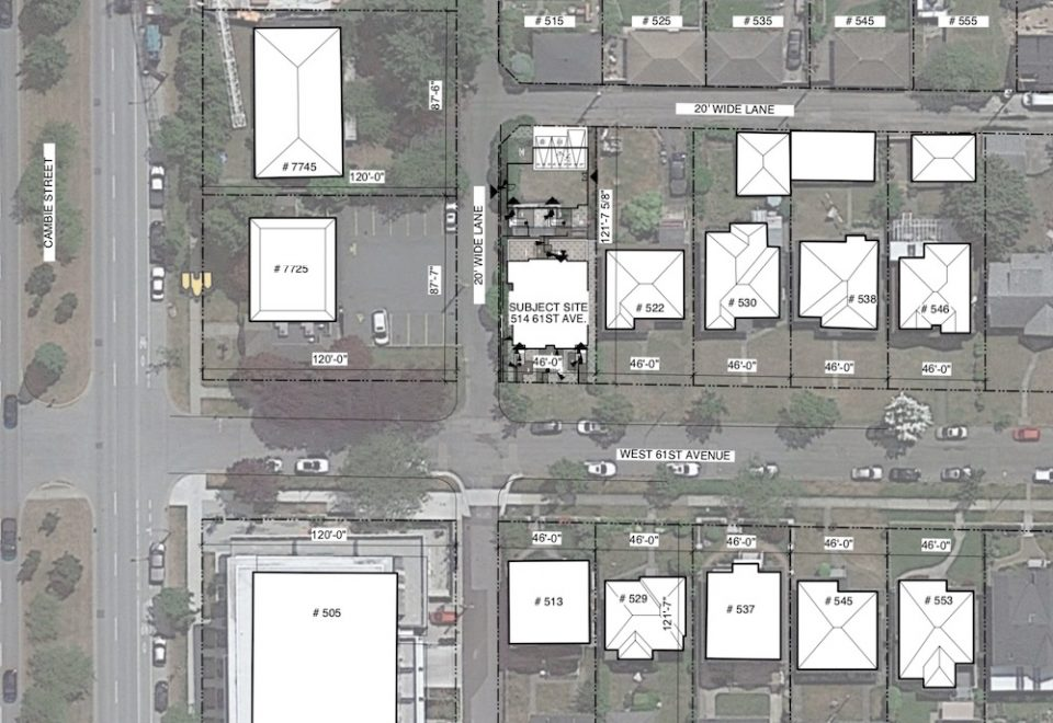 Subject site at 502 West 61st Avenue