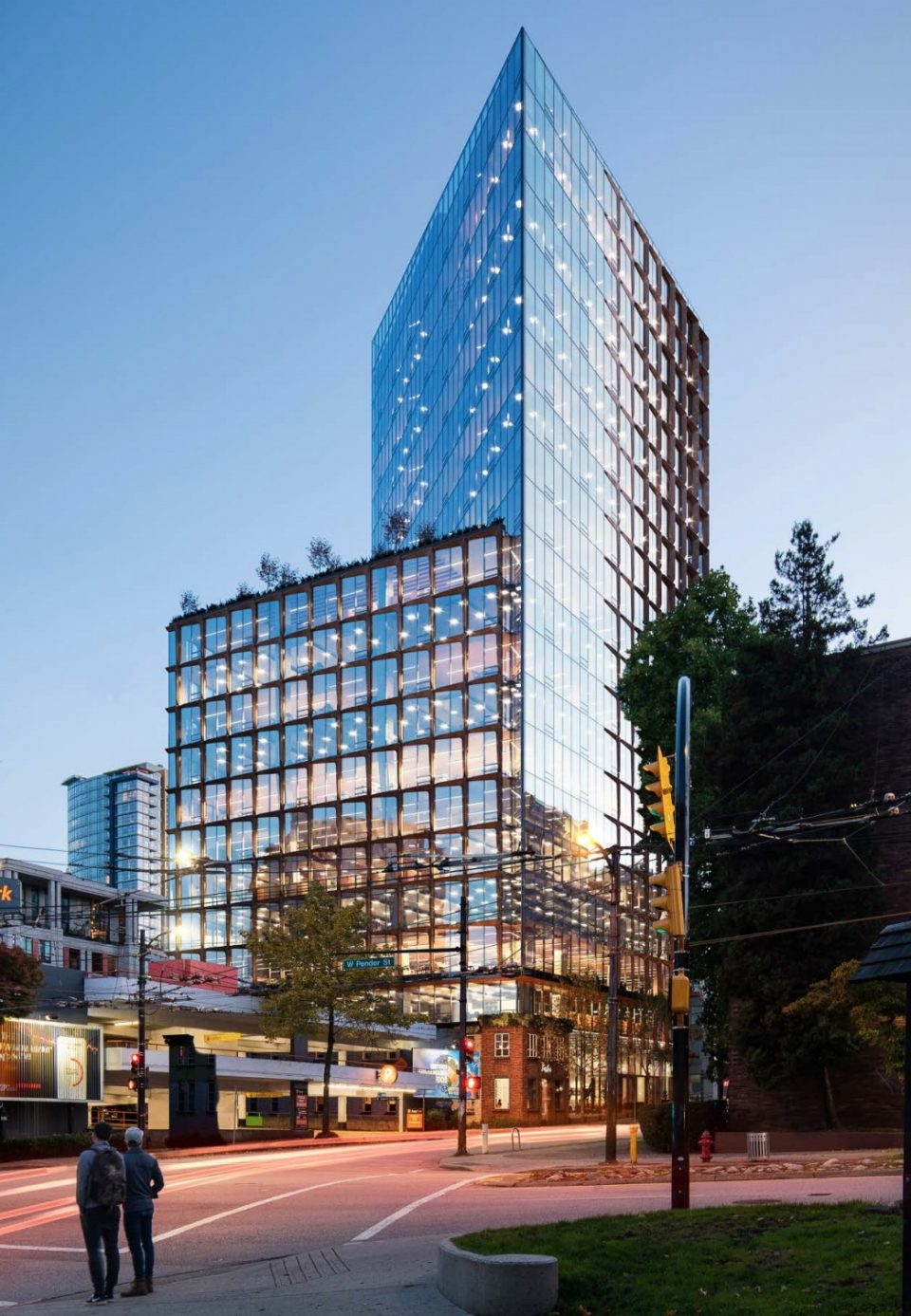 View of 550 Cambie from Victory Square